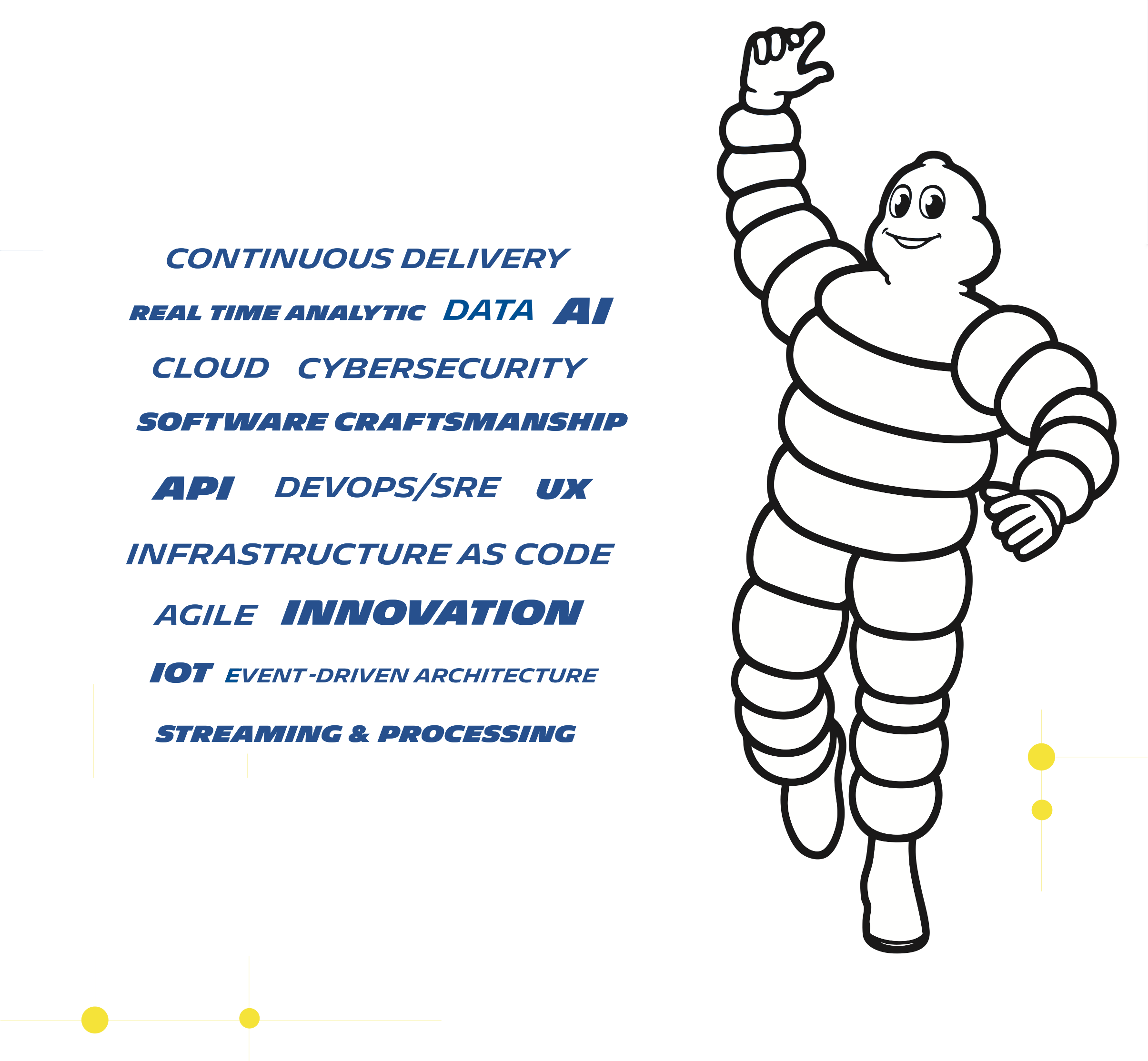 IA, continuous delivery, cloud, iot, innovation, ux, cybersecurity